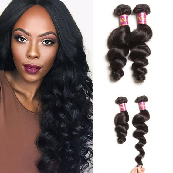 3 Bundles Indian Loose Wave Human Hair Extensions